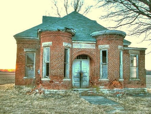 Abandoned school in Howard County, IN.