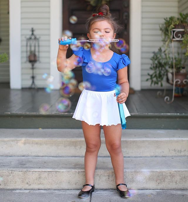 ROYAL BLUE Leotard with Flutter / Ruffle Short Sleeve for Toddler & Girls
