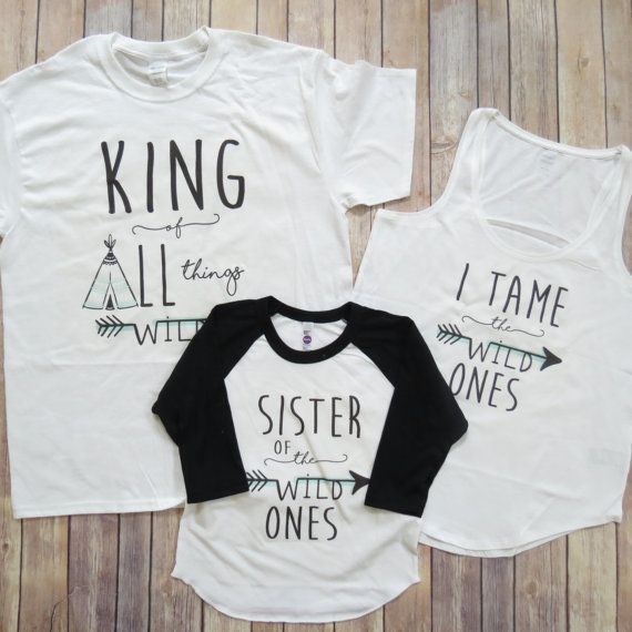 Wild One Family Set of Matching Shirts: King of by KyCaliDesign