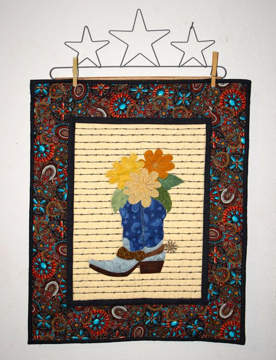158 best Cowboy quilts and such images on Pinterest | Cowboy quilt ...