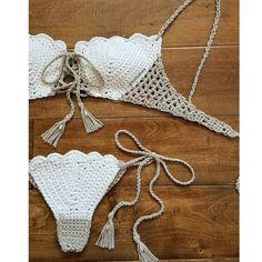 She sells sea shells by the sea shore The Shelly Bikini, complete with pearl detailing.