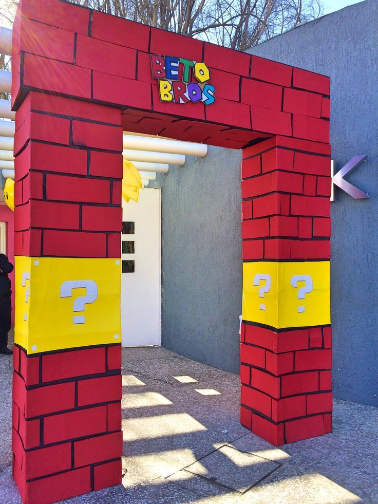 This is a great entrance!   Mario Theme Party in 2019
