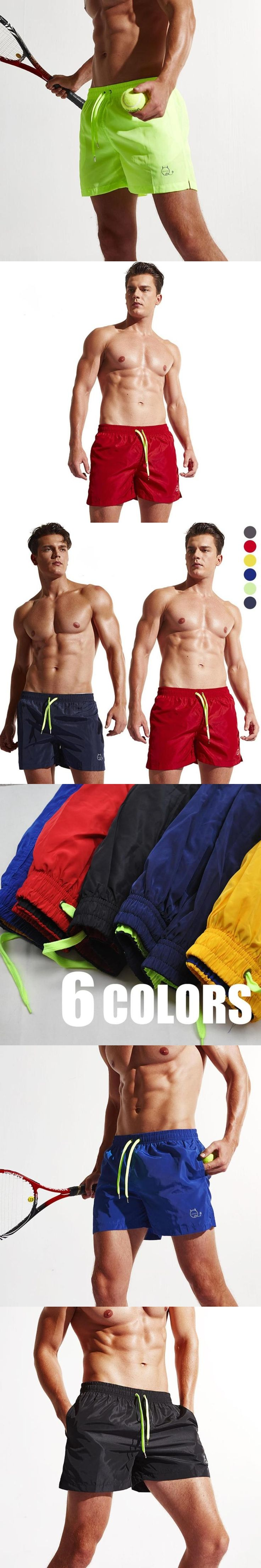 Summer Shorts Men Casual Drawstring Ultrathin Thigh Length Beach Holiday Candy Color Fashionable Male Short Leisure Trouser Y1