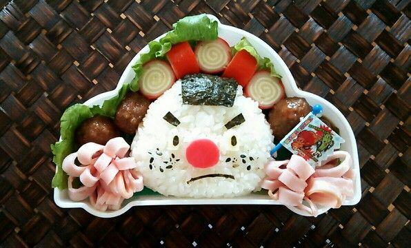 妖怪ウォッチのキャラ弁当 おにぎり侍☆ Japanese Kyara Bento lunchi idea Onigiri