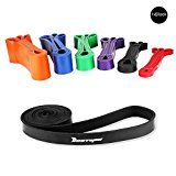 [Resistance Band] BESTOPE Premium Latex Pull Up Fitness Exercise Bands Workout Strap Exercise Loop Crossfit Bands for Strength Weight Training and Yoga--Black - https://www.trolleytrends.com/?p=605117