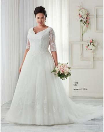 plus velikosti nášivka svatební svatební šaty