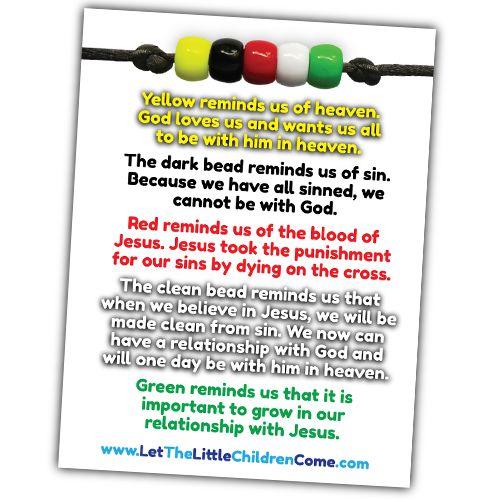 Salvation Bracelet - Wordless Bracelet - Gospel Bracelet - Gospel Colors - Wordless Beads