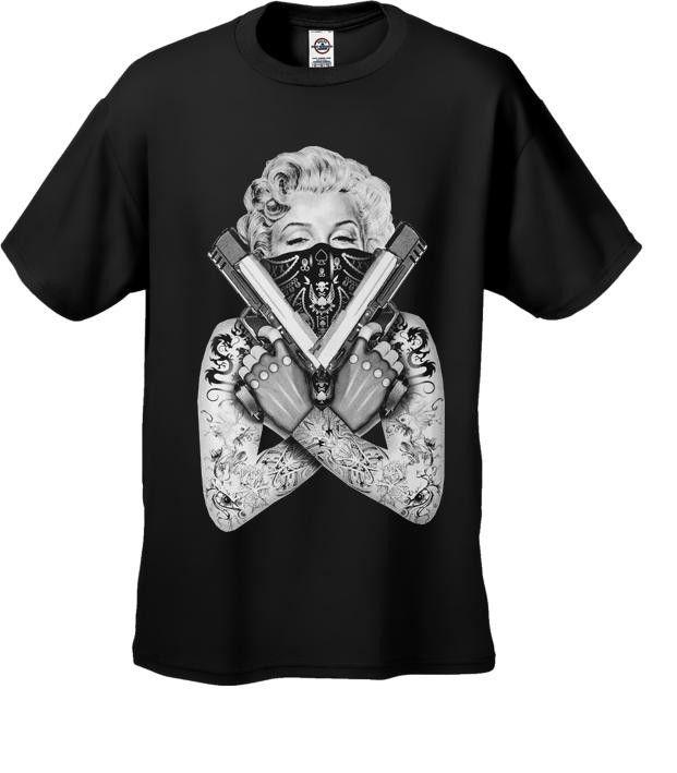 """Marilyn Monroe """"Gangster"""" Men's Black T-Shirt"""