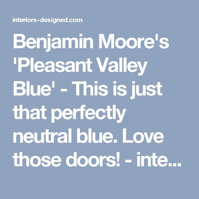 Benjamin Moore S Pleasant Valley Kitchen
