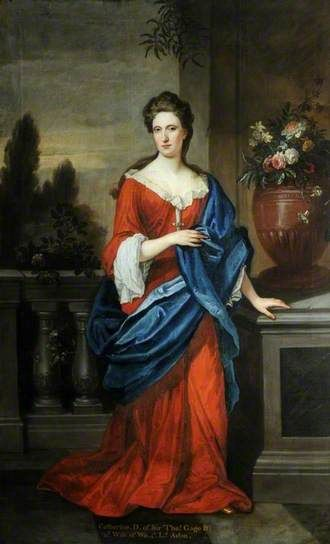 Catherine, Daughter of Sir Thomas Gage and Second Wife of Walter, 3rd Lord Aston of Tixall by school of Godfrey Kneller