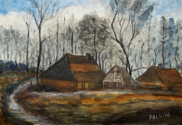 GALERIA PALOMO MARIA LUISA: Otras Casas de labranza entre árboles
