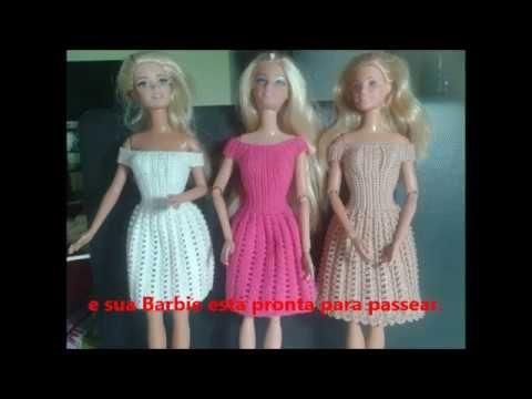 vestido de crochê 3 para barbie, fácil e elegante