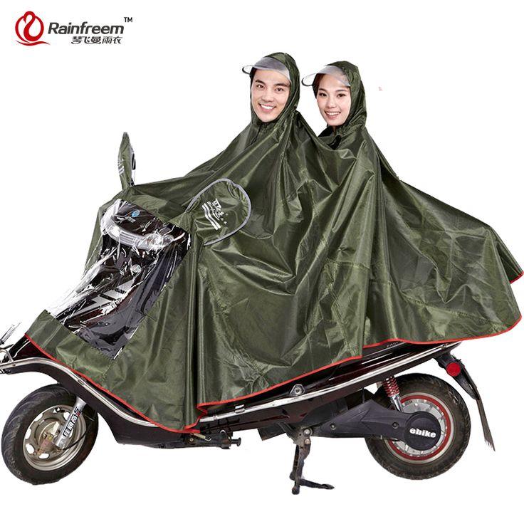 Rainfreem Imperméable Imperméable Femmes & Hommes Épais Moto Vêtements de Pluie Poncho Oxford Pluie Manteau Femmes Imperméable vêtements de Pluie Poncho(China (Mainland))