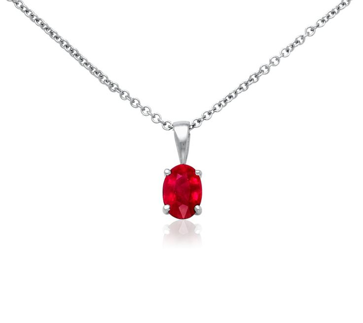 simple red ruby necklace