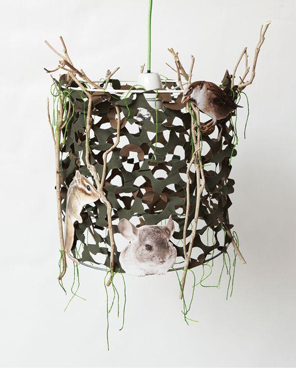 Het resultaat: een stoere, zelfgemaakte hanglamp voor de jongenskamer!