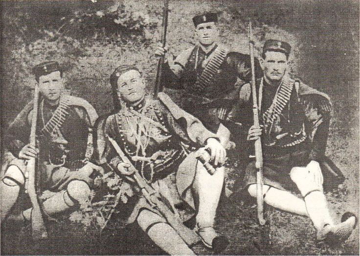 "Sep 11, 1908. Evaggelos Koropoulis (center) is killed by the Turks.  ""I will fight until #Macedonia is liberated & I will die here"". #Greece"