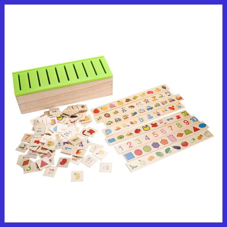 Wooden Classification Toy Box Montessori Kids Pattern Matching Classify Toy Educational Geometry Fruit Animal Learning Match Toy