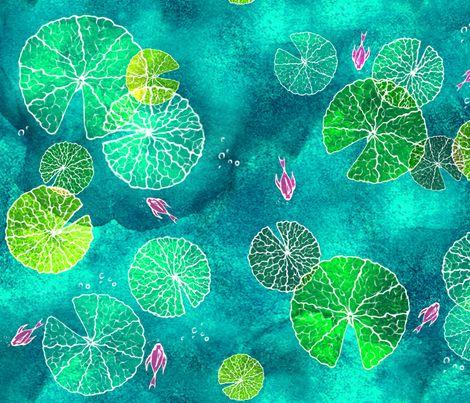 Fiaba The Water Lily Islands fabric by fiaba_fabrics on Spoonflower - custom fabric