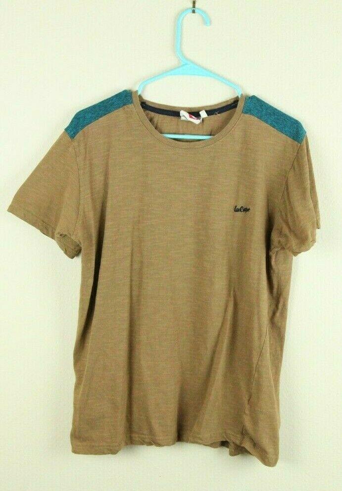 3bc185815 Lee Cooper Originals T Shirt Stitched Logo Tee Brown Medium M #LeeCooper # GraphicTee