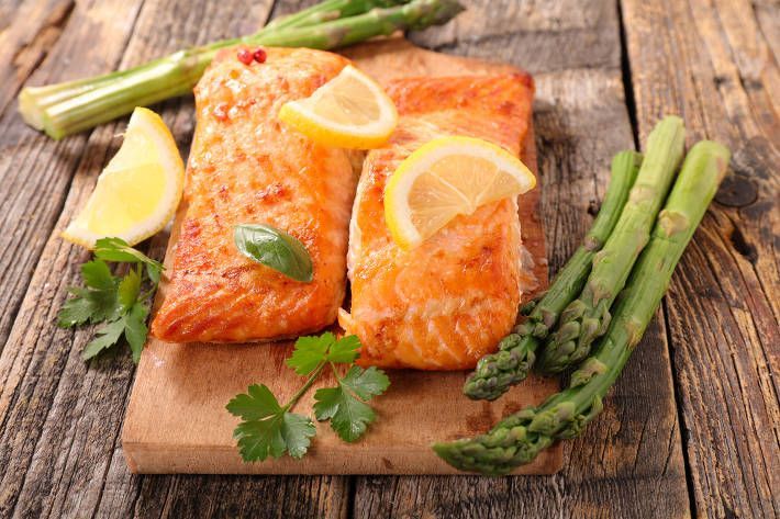 Oven Baked Salmon and Asparagus with Lime Dressing | F45 Challenge
