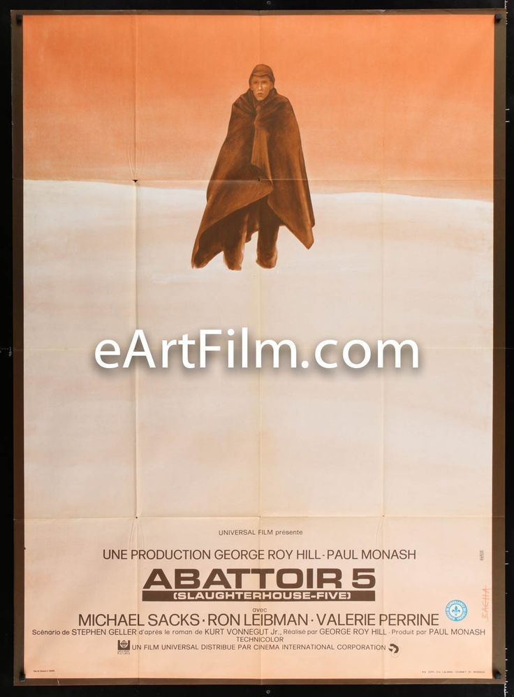 Slaughterhouse Five 1972 45.75x62.5 One Panel Movie Poster France