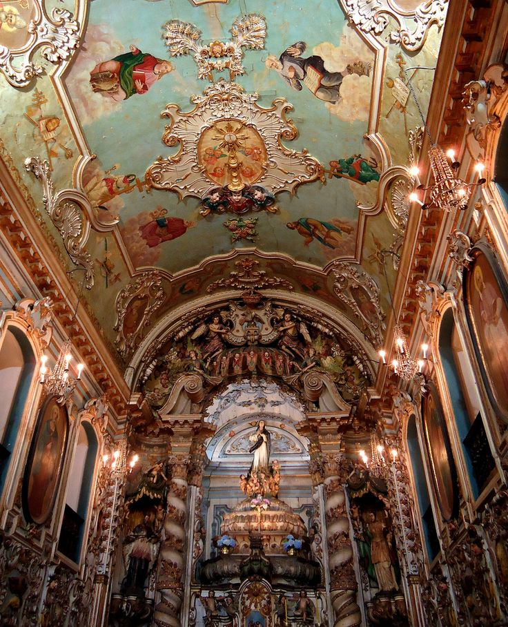 Abóbada da igreja em Ouro Preto - Minas Gerais (by R. Aoki) Brazil