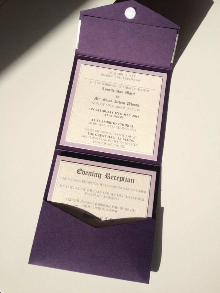 Coat of Arms | Traditional | Pocketfold Wedding Invitation