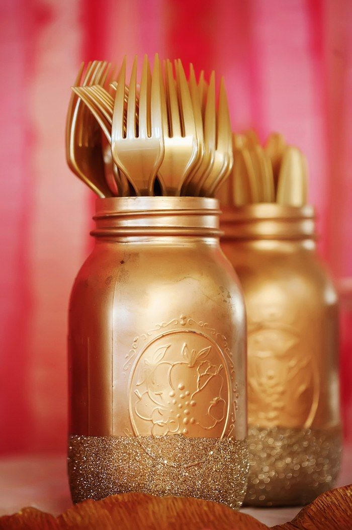If you're having a princess theme party and using plastic utensils - use silver or gold ones to make table regal - just like real royalty. :)