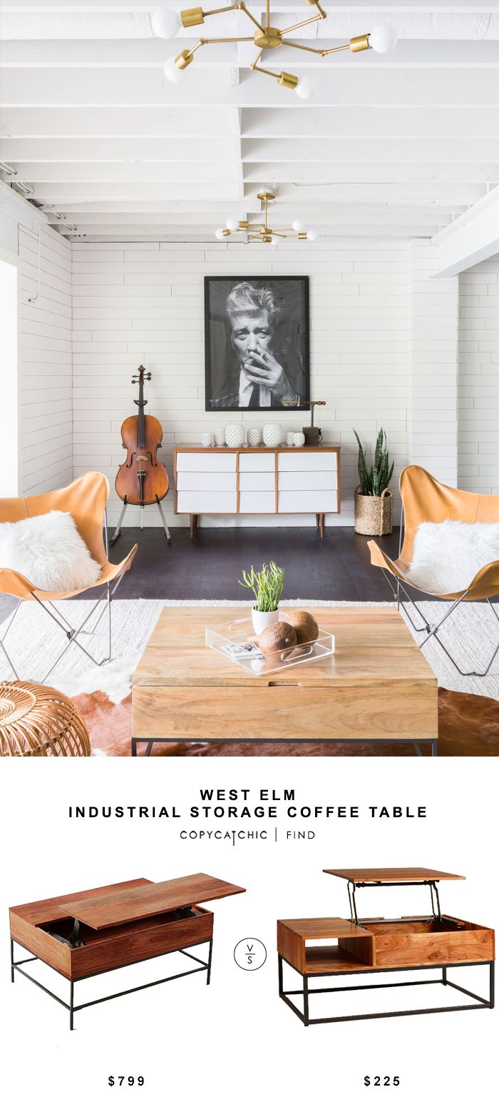 West Elm Industrial Storage Coffee Table for $799 vs World Market Wood Silas Storage Coffee Table for $225   @copycatchic look for less budget home decor http://www.copycatchic.com/2016/09/west-elm-industrial-storage-coffee-table.html?utm_campaign=coschedule&utm_source=pinterest&utm_medium=Copy%20Cat%20Chic&utm_content=West%20Elm%20Industrial%20Storage%20Coffee%20Table
