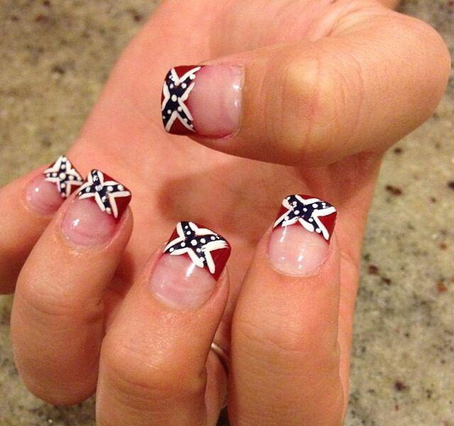 Rebel flag nails <3 love them - 26 Best Rebel Flag Images On Pinterest Rebel Flags, Confederate