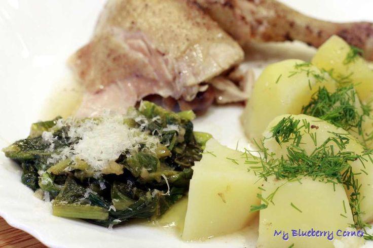 Rzymska sałata smażona