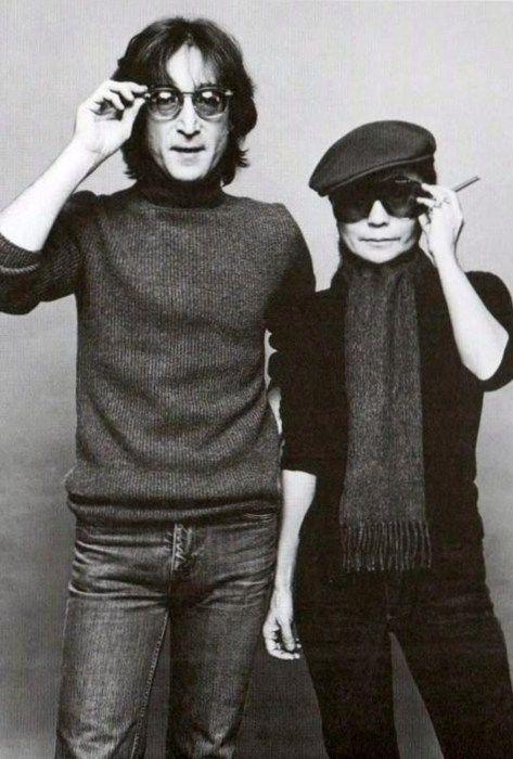 John Lennon and Yoko Ono • photo: Press