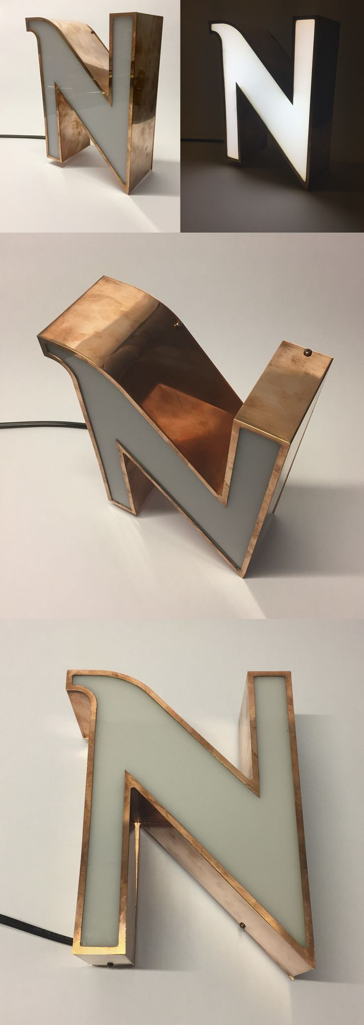 Sehr schöne Kupfer Metal LED-Buchstaben - beautiful copper metal LED channel lettering