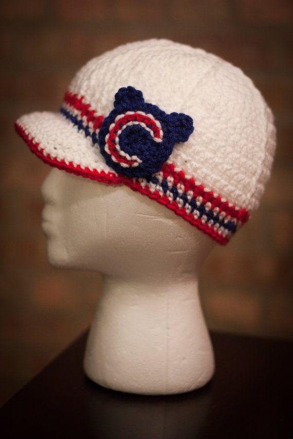 Chicago Cubs ispirato all'uncinetto cappellino Teen  formato