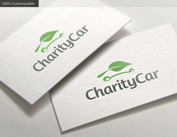 Charity Leaf Car Logo by LogoBuy on @creativemarket