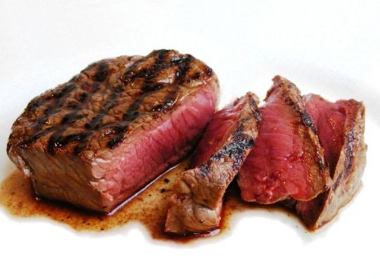 Fillet steak always cooked rare