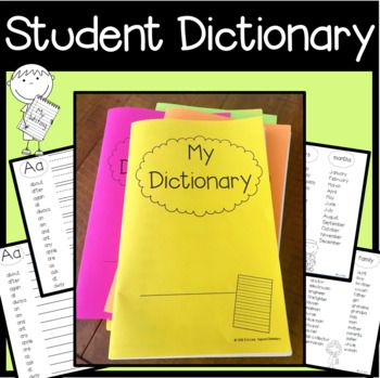 "Student Dictionary - This is a writer's workshop ""must-have"" tool! After spelling the same words for my students over and over, I decided it was time that they each have their own dictionary, stored for easy access in their WRITER'S WORKSHOP FOLDER. Each page A-Z includes the 220 Dolch Sight Words, as well as the Fry's first 100 words, and word lists including days, colors, numbers and more!"