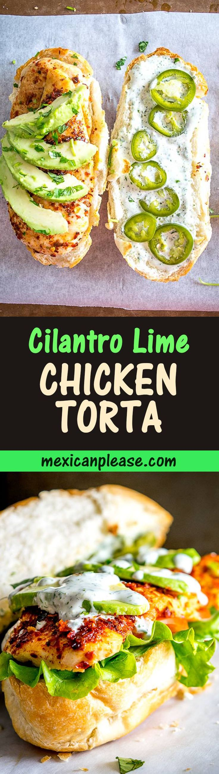 This is a great Chicken Torta combo to keep in mind for quick meals.  Fresh avocado and plenty of Cilantro Lime Mayo will turn it into one of the best sandwiches you'll ever have.  So good!  mexicanplease.com