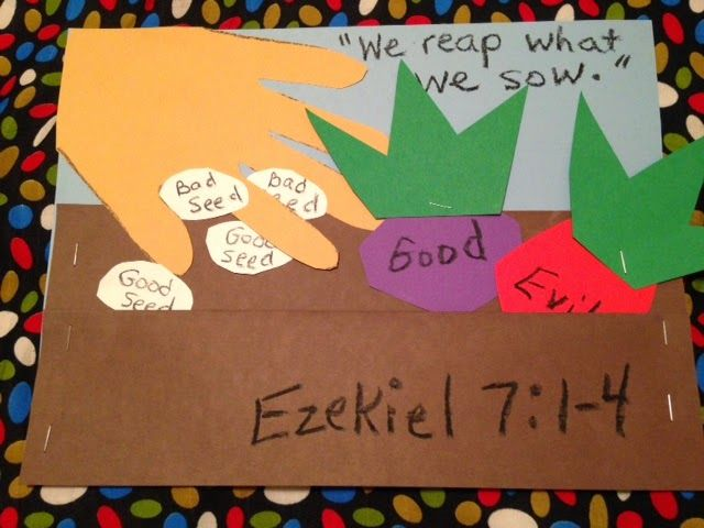 Ezekiel. Ezekiel was a prophet of God who had many visions and spoke to the people God's words. One important message he had for the Jews was a warning about reaping and sowing and it is on the blog tonight! Easy, inexpensive, and unique children's Bible lessons. Free to all! Take a look and share!