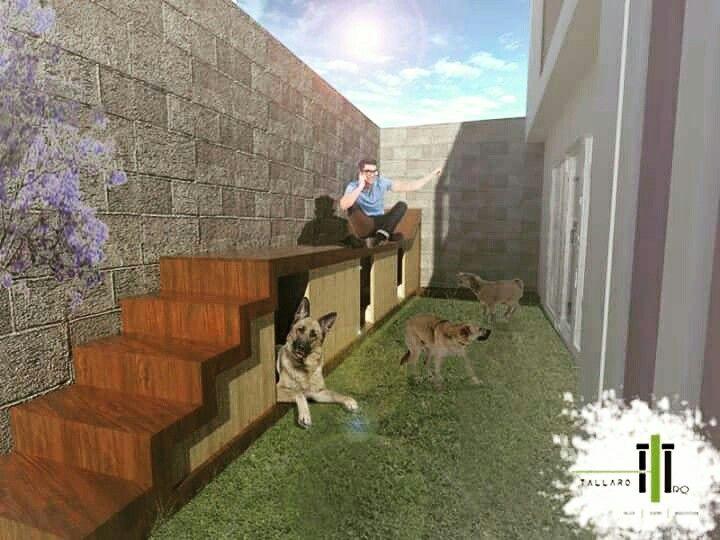 """TALLARQ- """"arquitectura para los seres vivos"""" Diseño mobilairio -Nuestro cliente deseaba un lugar para sus 3 perros; La propuesta fue un diseño que incluye un area de descanso exterior, un area con 3 dormitorios en el interior para cada mascota y un área de  comedero. #diseño #doghouse #dog #home #arquitectura #mobiliario #houseformydog"""