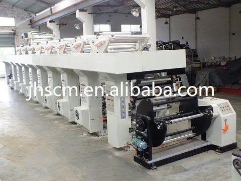 plastic film high speed rotogravure printing machine/paper gravure print...