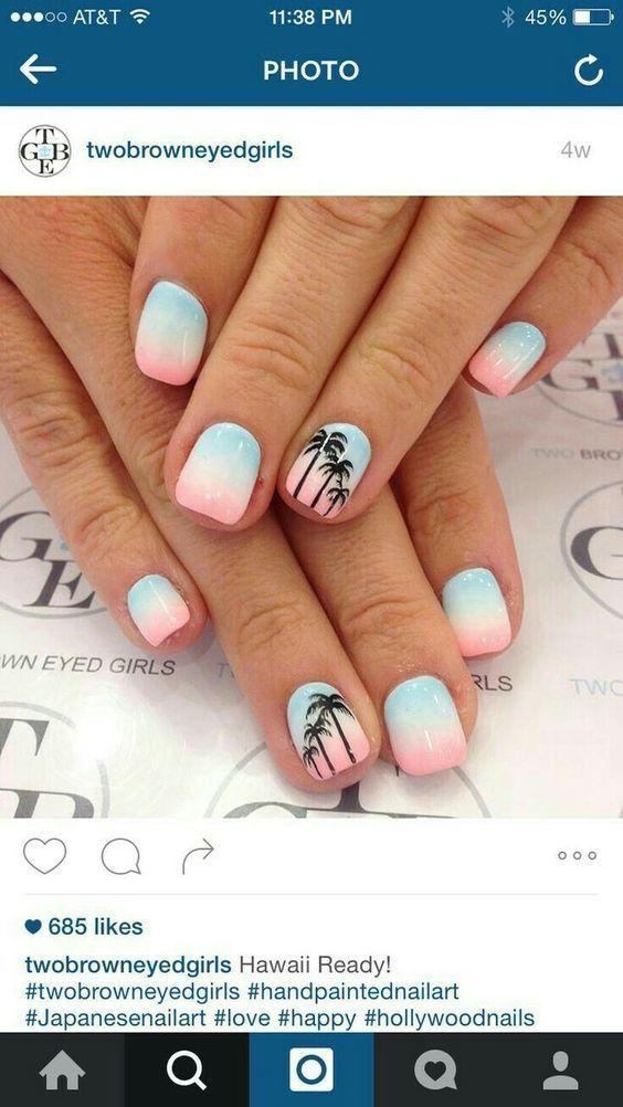100 + Blickfang Sommer Nail Arts, die Sie lieben werden
