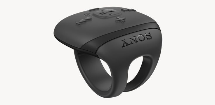 a bluetooth remote ring enables the wearer to control their music more freely when active