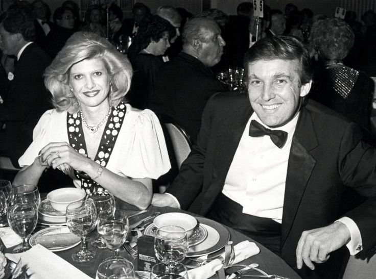 Ivana with her then-husband Donald Trump. The couple's 1992 divorce was bitter and