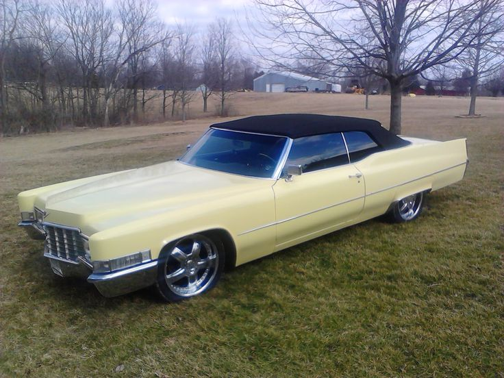 1969 coupe deville convertible yellow for sale in dayton. Black Bedroom Furniture Sets. Home Design Ideas