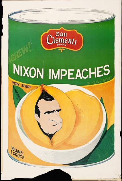 Nixon Impeaches. Please laugh.   More historic posters: http://j.mp/Up1ukO