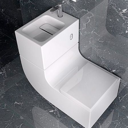 De gecombineerde wasbak en toilet van designbureau W+W en Roca is hot! Een absolute  must have voor de moderne compacte badkamer. Functionaliteit en esthetica stonden hoog in het vaandel bij het creëren van dit bijzondere ontwerp.