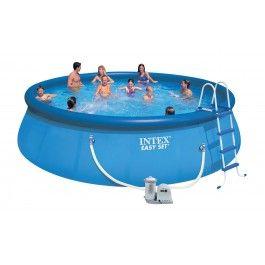 INTEX Swimming Pool EASY SET 549x122 Set ECO 54920 GS mit Filterpumpe.  Das ultimative Pool-Set besteht aus: Easy-Set-Pool mit den Maßen 549 x 122 cm, Filterpumpe, Poolleiter, Bodenplane, Abdeckplane , mit Verbindungsschläuchen, - Schlauchverbindungen,DVD.   Maße ca. 549 x 122 cm    Filterleistung:Filterpumpe: 5678 Liter / Stunde 220-240 V / mit Filtereinsatz Nr. 59900