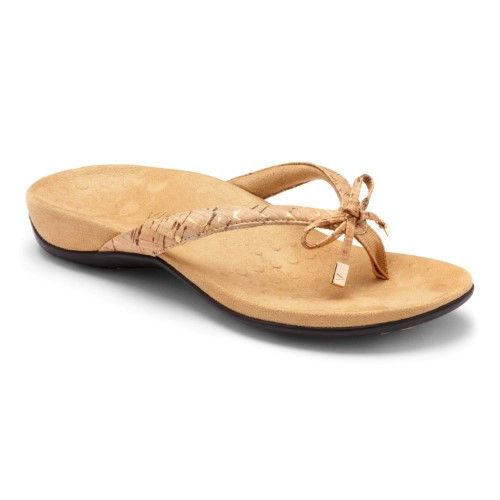 72585b19e100 Vionic Bella - Women s Orthotic Thong Sandals - Gold Cork