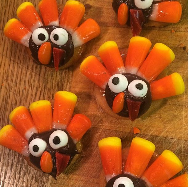 easy thanksgiving turkey cookies